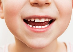 Child's healthy smile